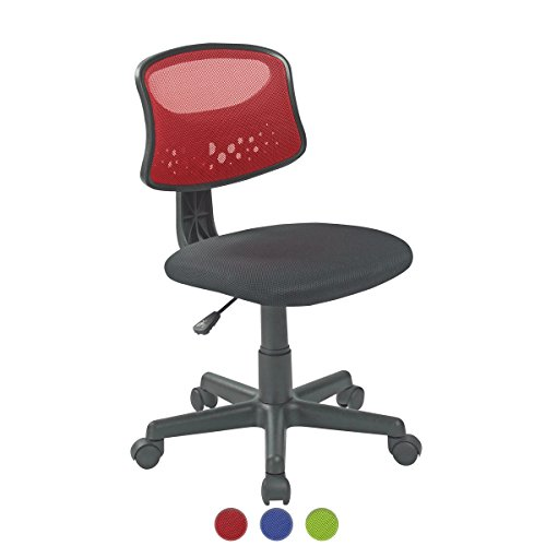 KAYELLES Chaise de Bureau Enfant FAYA, Junior, Etudiant - Siege Bureau enfant (Rouge)