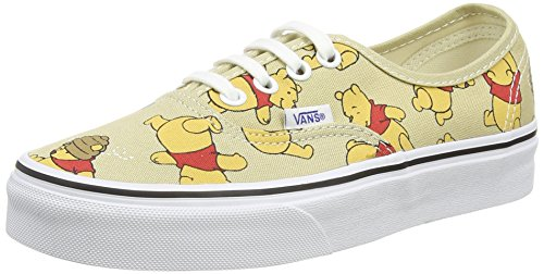 Vans Authentic Disney Winnie Mens Canvas Trainers Tan - 47 EU