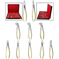 CANDURE® - Herramienta de Cirugía de Dentista con Certificación CE - Juego de 10 Fórceps para Extracción de Dientes -