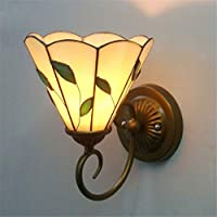 Aszhdfihas-home Wall Wash Lights Pastoral European Antique Wall Lamp Corridor lights Glass Bedroom Lights Lamps And Lanterns Farmhouse Style -E27 for Living Room Bedroom Bathroom Kitchen Dining Ro