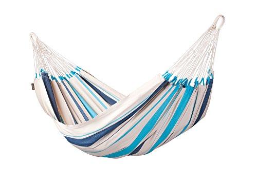 LA SIESTA - Caribeña Aqua Blue - Klassische Einzel-Hängematte aus Baumwolle