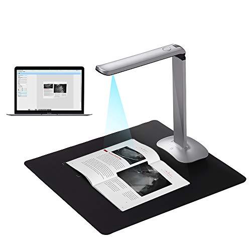 Aibecy Buchscanner Fotoscanner Dokumentenkamera F50 HD Scanner 15 Megapixel A3 und A4 Scangröße mit LED Licht AI-Technologie USB Fußpedal für Windows - Windows Scanner