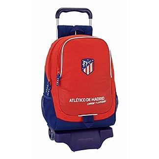 Safta Mochila Atlético De Madrid «Coraje» Oficial Escolar Con Carro Safta 330x150x430mm