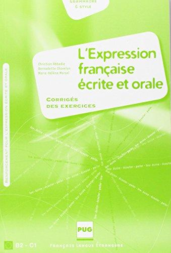 l-39-expression-franaise-crite-et-orale-corrig-des-exercices