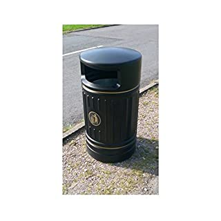 Advancedscape Ryde 120 Litre Traditionally Styled Round Plastic Litter Bin