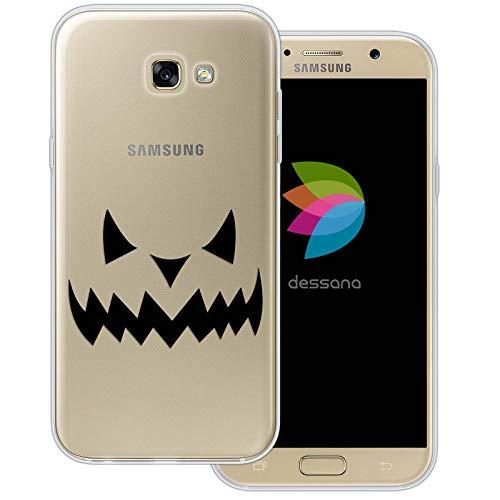 dessana Halloween Muster Transparente Schutzhülle Handy Case Cover Tasche für Samsung Galaxy A7 (2017) Kürbis ()