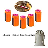 CZ-XING Windproof Waterproof Survival Portable Matches with Extra-large Head Survival Tool + Cotton Drawstring Bags 6