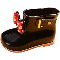 Heligen Kinder PVC Baby Stiefel Mädchen Nette Gelee Bowknot Regen Schuhe Rot/Rosa / Schwarz Wasserdichte Stiefeletten preisvergleich bei billige-tabletten.eu