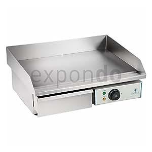 Royal catering rceg 55 fry top elettrico liscio 55 for Top cucina amazon