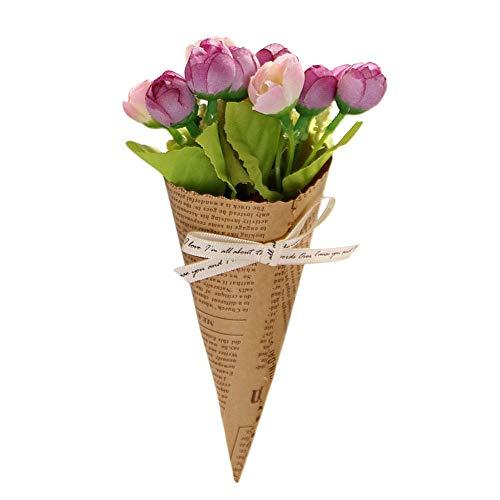 Dvhblxux Artificielle Pivoine mariée mariage Faux Fleur en Gros Simulation Réel Naturel la Décoration de Table de Mariage Bouquets Emballage Saint Valentin