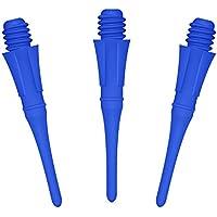 Dardos punta de plastico, dardos de punta suave consejos, 100pcs, cyeelife deportes, 1.0 Pulgada, profesional de dardos puntos (Blue, 100pcs)