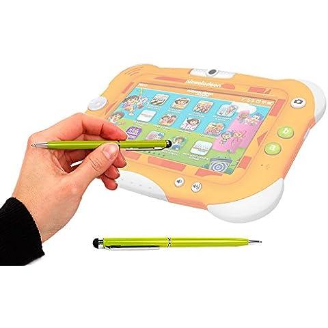 DURAGADGET Lápiz Stylus Verde Lima 2 En 1 Bolígrafo De Tinta Para Pantalla Táctil De Tablet Videojet
