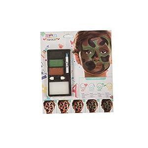 My Other Me Me-207078 Kit Maquillaje Infantil Camuflaje, Talla única (Viving Costumes 207078)
