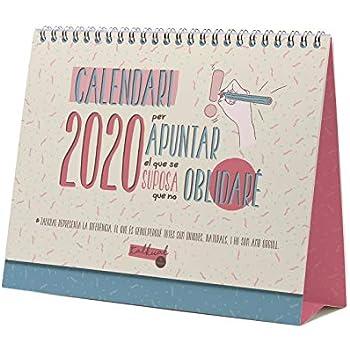 Miquelrius 28356 Calendario da tavolo A5 per scrivere fiori 2020 Catalan