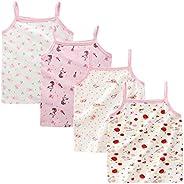 Kidear Series para niñas pequeñas 2-3 Paquetes Camiseta algodón Suave Camisola Tank Tops
