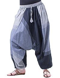Kunst und Magie Bunte Aladin Haremshose mit 2 Taschen