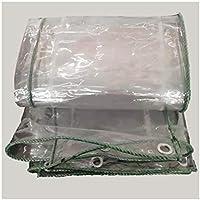 WZNING Lona Transparente de 420 gsem, Membrana Suave de PVC Impermeable de 0.3mm, Polvo a Prueba de Lluvias, para el toldo del jardín Durable y Protector (Color : Clear, Size : 2.4X2M)