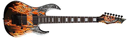 Dean MAB7 7 cuerdas guitarra Batio Warrior Michael Angelo funda de guitarra eléctrica con