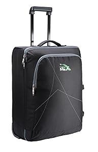 Cabin Max Dortmund Trolley Bag, Easyjet cabin sized hand luggage 56 x 40 x 25 cm (Black)