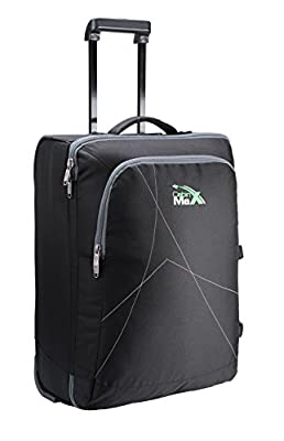 Cabin Max Dortmund Trolley Bag, Easyjet cabin sized hand luggage 56 x 40 x 25 cm (Black)