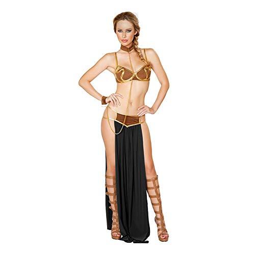 YaXuan Damen Sexy Nachthemd Cosplay Europäischen Und Amerikanischen Arabischen Sexy Dessous Kleid Urlaub Halloween Kostüme (Farbe : 1, Größe : ()