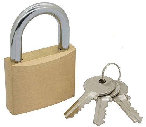 Bulk Hardware BH03906 40 mm candado de latón con llave maestra