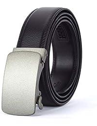 AFHWUDDW Taillengürtel Menworkautomatic buckleleatherbeltbusinessalloy bucklemen's beltfashionadultmature