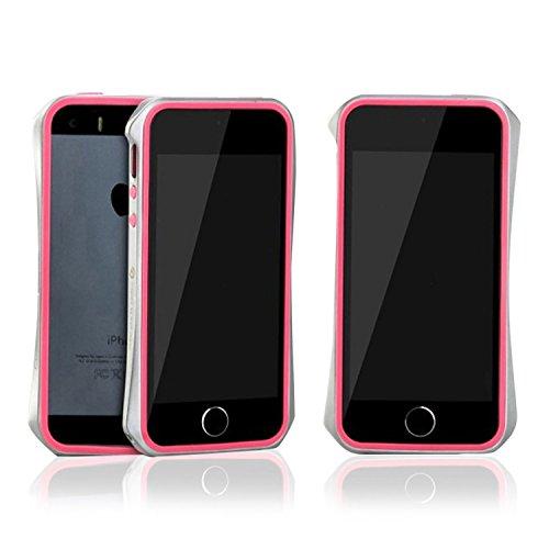 Aero 5 Slimline Argent pare-chocs en alliage brillant étui métallique pour Apple iPhone 5 / 5S - Gris Rose