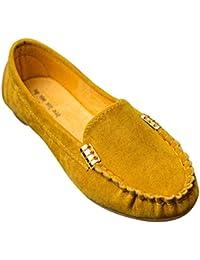 ceb1ee188 Yudesun Mujeres Superficial Perezoso Zapatos - Ante Plana Bombas Señoras Mocasines  Mocasines Conducir Diario Desgaste Fecha Suave Suela…