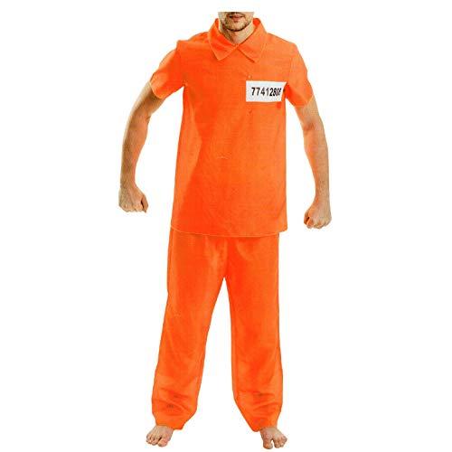 Herren Häftling Kostüm - AM US-Sträfling Herren Karneval Kostüm Gefangener Häftling Fasching orange