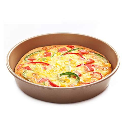 CANDeal Antihaft-Hochleistungsstahl mit extrem tiefem Boden (21 cm / 9 Zoll) Runde Pizzaform, Bräter, Brotbackform, Keksblech - Extreme Pizza