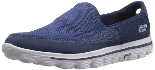 Skechers GOwalk 2 Men's Sneakers, Azul (NVGY), 8 UK