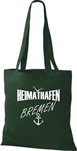 Shirtstown Stoffbeutell Heimathafen Bremen Molti Colori Verde