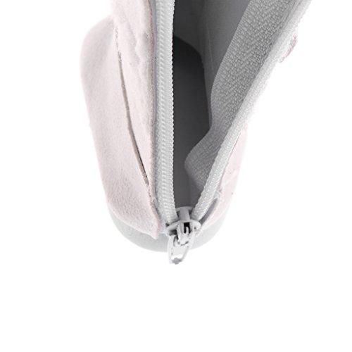 Gazechimp Puppen Winter Schuhe - Plüsch Zipper Schneestiefel / Schneeschuhe - Zubehör für 18'' American Girl Puppe - Weiß (Schneeschuhe Pakete)