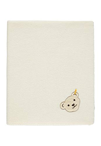 Steiff Unisex Baby Decke Strick Schlafsack, Weiß (Cloud Dancer|White 1610), One Size (Herstellergröße: 00) -