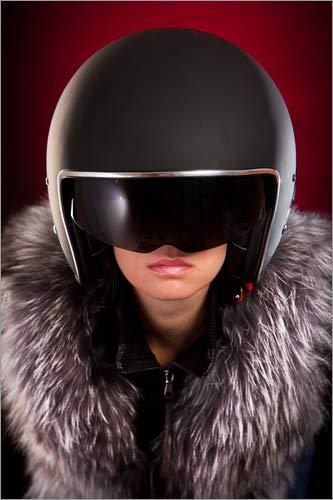 Posterlounge Stampa su Alluminio 100 x 150 cm: Glamour Biker Girl di Editors Choice
