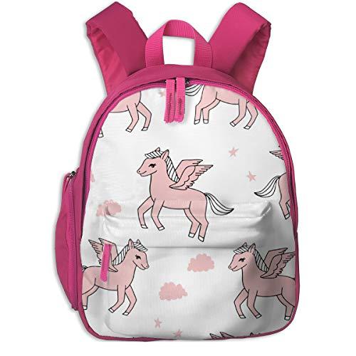 Pegasus - Mochila para niñas (Tela Pegasus), Color Rosa y Blanco