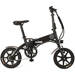 REVOE Urban, Bicicletta Elettrica Pieghevole Misto Adulto, Nero