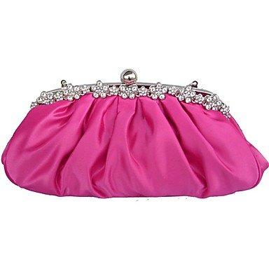 Frauen Satin Hochzeit Abend Tasche Ruby