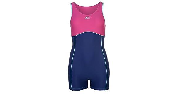 a51151a65f791 Slazenger Damen Boyleg Badeanzug mit Bein Schwimmanzug Bademode Schwimmen  Strand Rosa 10 (S): Amazon.de: Bekleidung