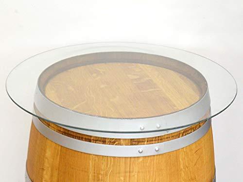 Temesso Glasplatte D80cm für Weinfass - Tischplatte