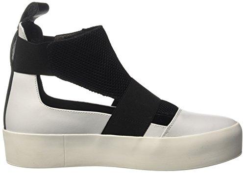 BIKKEMBERGS Damen Pow-Er 878 Hohe Sneaker Bianco (White/black)