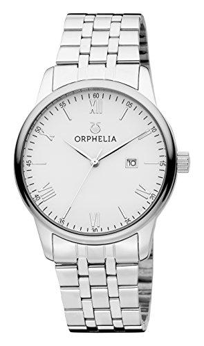 Orphelia Herren-Armbanduhr Sterling Analog Quarz Edelstahl (Reden Sie Datum Und Zeit, Uhr)