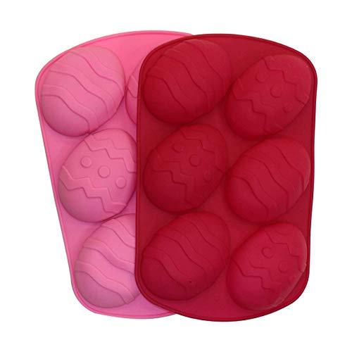 Confezione da 2 stampi in silicone per uova di Pasqua (colore casuale) 2x Large