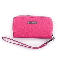 ICCESSOIRE Tasche für IQOS 2.4/2.4+ / 3 Gerät und HEETs, Kunstleder Etui, pink, Fallschutz Case