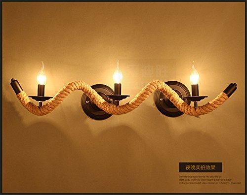 Larsure Vintage Industrial Style Wandleuchte Wandleuchte Lampe Retro Wohnzimmer Restaurant Bar Bar kreative Kostüm Shop Cafe Kunst Wandleuchte Wandleuchte Lampe, 820 mm * 120 mm