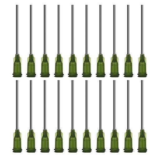 Shintop Spritzen Nadeln mit Stumpfer Spitze, 3,8cm 14G Verteiler-Spritzen mit Luer-Steck für Nachfüllung von E-Liquids, Tinten und Spritzen (100 Stück)