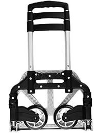 Cusfull Multi-Purpose Réglable Chariot de transport pliable léger en aluminium Diable Brouette avec Cordon Elastique pour l'Intérieur, Extérieur,