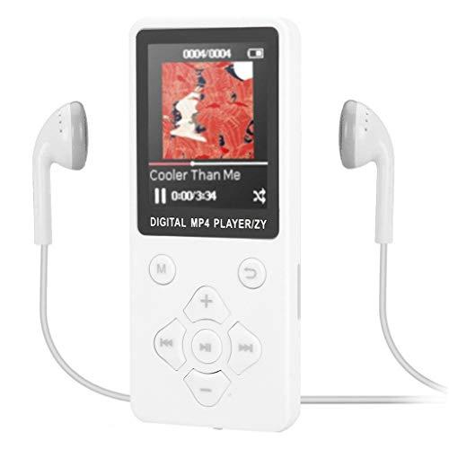 Jamicy® MP3 Player, Bluetooth MP3 Player mit Kopfhörern, Digital Kinder MP3 Player mit FM Radio, unterstützt erweiterbar Max bis zu 32G (Weiß) - Herren-erweiterbar-uhr Bänder