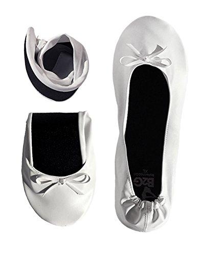 Ballerina2go, Ballerines Pour Femmes Blanches (blanches)